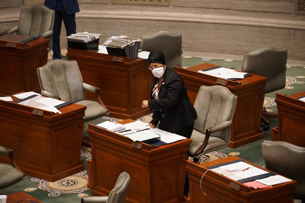 In a heated 12-hour debate on Thursday, Sen. Jamilah Nasheed, D-St. Louis, opposes Gov. Mike Parson's tough-on-crime package of legislation intended to reduce violence throughout the state.