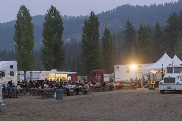 File photo. A fire camp in Leavenworth, Washington, during the 2018 fire season.