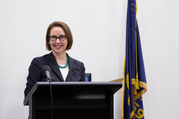 Ellen Rosenblum is sworn in as attorney general for the state of Oregon on Wednesday, Jan. 4, 2017.