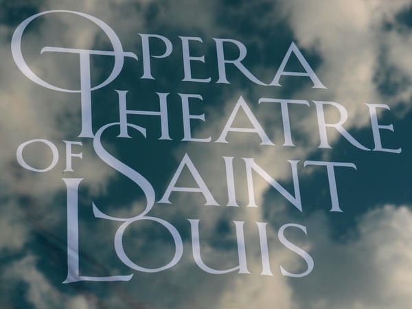 A 2016 photo of a sign for the Opera Theatre of St. Louis.