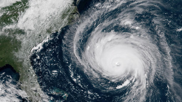 Hurricane Florence approaches the Carolinas in September 2018.