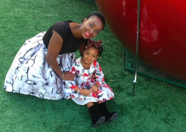 Tatalu Helen Dada poses with her daughter.