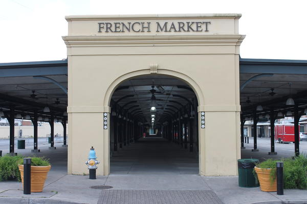 The French Market in New Orleans sits quiet and empty admidst government-ordered shutdowns in response to the spread of coronavirus.
