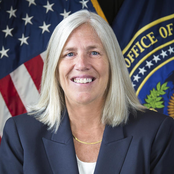 Sue Gordon in 2017 as deputy national intelligence director.