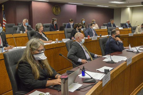 Missouri's House Judiciary Committee listens to testimony on the violent crime package on Monday. As lawmakers wrapped up the hearing, Gov. Mike Parson expanded the special legislative session scope to include concurrent jurisdiction.