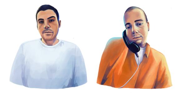 Renier Acosta Hernandez (izquierdo) y Lazaro Siberio.