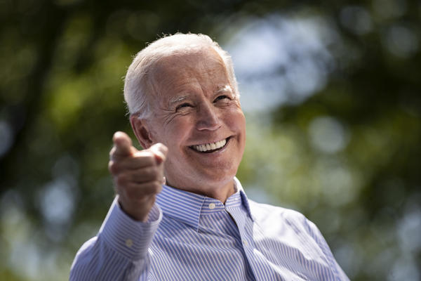 Former Vice President Joe Biden speaks during a campaign kickoff rally on May 18, 2019, in Philadelphia. For the first time in a decade, Wall Street's deep-pocketed donors are giving more money to Democrats than Republicans.