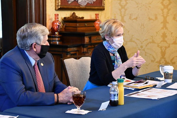 Missouri Gov. Mike Parson welcomed Dr. Deborah Birx, the White House Coronavirus Relief Coordinator, for a roundtable discussion with health officials and community stakeholders on Tuesday, Aug. 18.