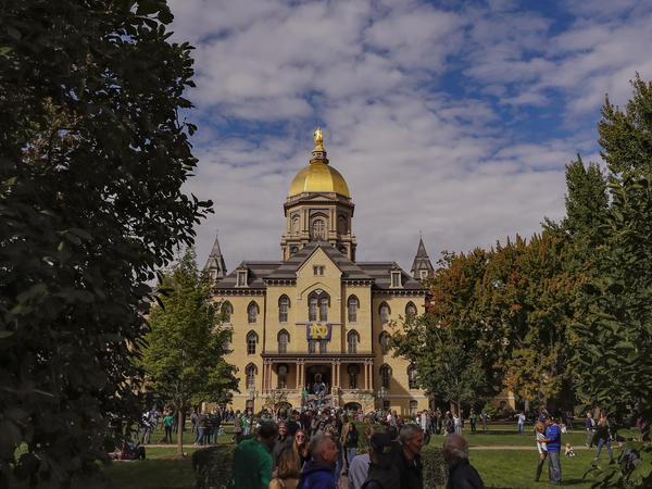 The president of the University of Notre Dame said 146 students and one staff member have tested positive for the virus since Aug. 3.