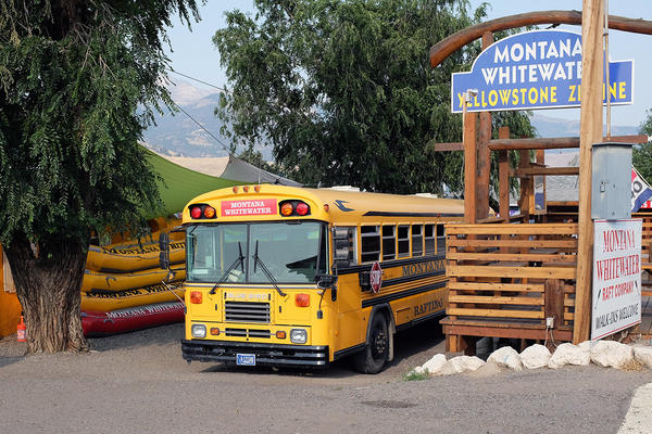 image outside Montana Whitewater, a rafting and zipline company in Gardiner, MT from 2018, August 18