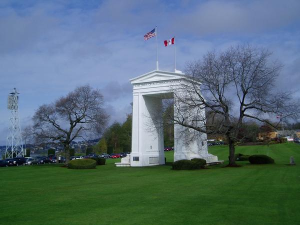 Peace Arch Park reportedly is the scene of lots of weddings this summer featuring Canadian-American couples seeking to ease their border crossing status.