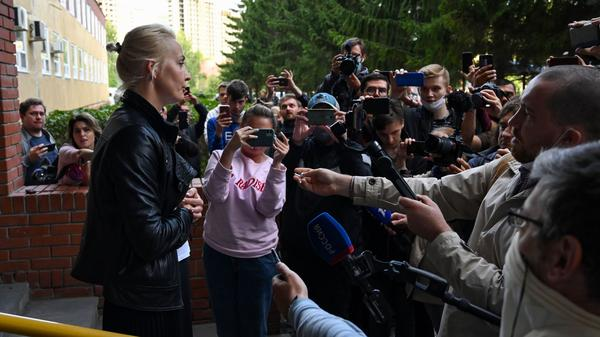 Yulia Navalnaya, wife of Russian opposition leader Alexei Navalny, said she was blocked from seeing her husband and from moving him to a clinic in Berlin.