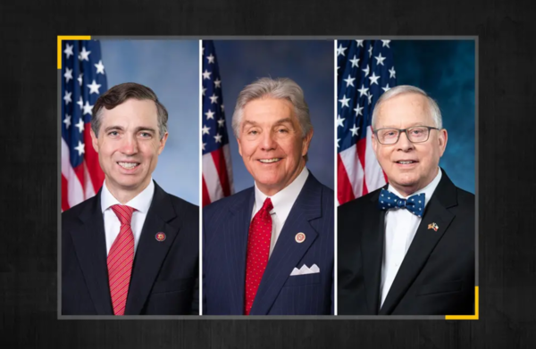 From left: The new targets of the House Democratic campaign arm are U.S. Reps. Van Taylor, R-Plano; Roger Williams, R-Austin; and Ron Wright, R-Arlington.