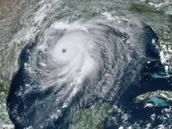 Hurricane Laura approaches the Gulf Coast of the U.S. on Wednesday. The storm rapidly intensified before it made landfall.