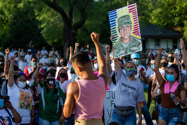 A rally was held for Vannessa Guillen in East Austin on July 12.