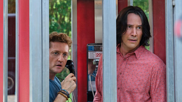 """Alex Winter and Keanu Reeves are back as everyone's favorite dim-witted would-be rock stars, Bill S. Preston, Esq., and Ted """"Theodore"""" Logan."""