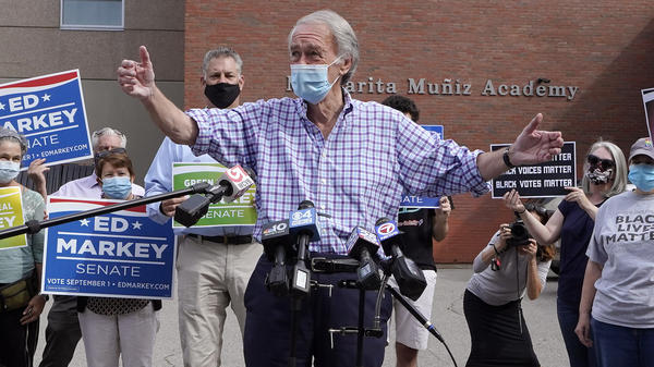 U.S. Sen. Ed Markey, D-Mass., fended off a primary challenge on Tuesday from Rep. Joe Kennedy, D-Mass., for a second full term in the Senate. Although both ran as progressives, young climate change activists helped fuel Markey's victory.