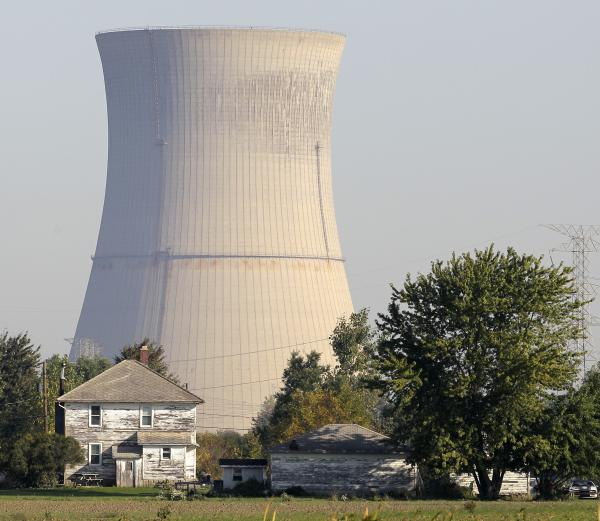 This Oct. 5, 2011 file photo shows the cooling tower of the Davis-Besse Nuclear Power Station in Oak Harbor, Ohio.