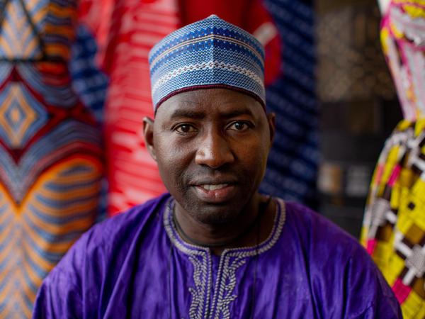 Soumana Saley, a leather craftsman from Niger.