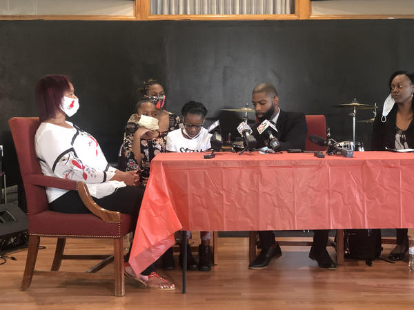 Neveah Thomas spoke out for the first time since her attack at Thursday's press conference.
