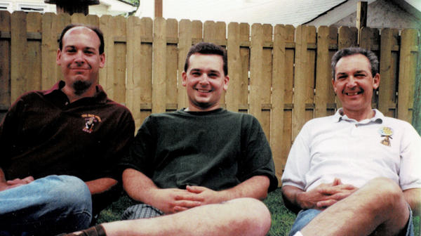 Left to right: Albert Petrocelli Jr., Mark Petrocelli and Albert Petrocelli Sr., on Father's Day in 1989, at Mark's home in New York.
