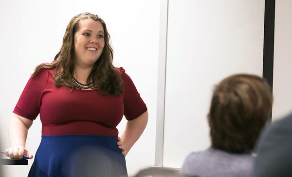 Sarah Hercula teaches a class at Missouri S&T in this 2018 file photo.
