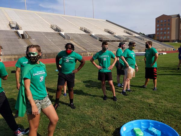 Wichita State University students gathered at Cessna Stadium to compete in the annual Clash of the Colleges. This year the bleachers were left empty.