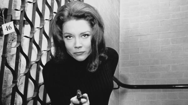 English actor Diana Rigg became widely known in the U.S. for her role as Emma Peel in the 1960s TV series <em>The Avengers</em>. She died Thursday in her home in London.