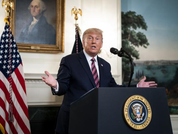 President Trump defended downplaying the coronavirus as necessary to keep the nation calm after excerpts were released from Bob Woodward's new book, <em>Rage</em>.