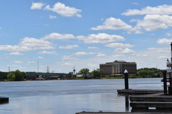 East Peoria seen from the Peoria shoreline.