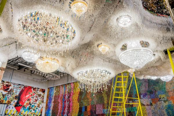 Nick Cave's 'Crystal Cloudscape' is a crystal cloud topped by a private garden.