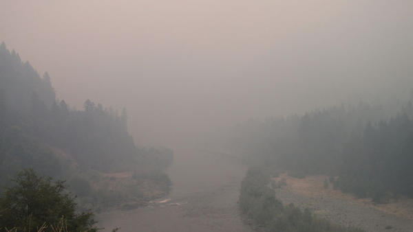 File photo. Smoke from 2020 fires in the Northwest and coming up from California has innundated the region this week, as it has in years past.