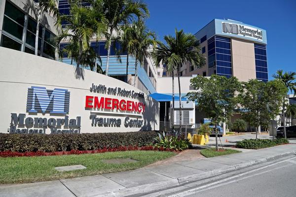 Memorial Regional Hospital in Hollywood is one of six Memorial Healthcare hospitals relied upon by southwest Broward residents. After those hospitals were removed from Florida Blue's preferred provider network on Sept. 1.