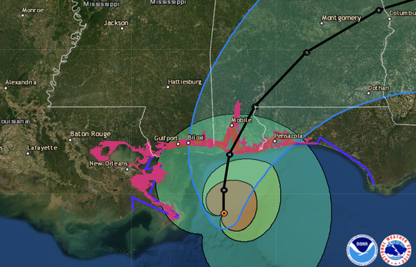 Hurricane Sally is predicted to make landfall late Tuesday night or Wednesday along the Gulf Coast, bringing huge amounts of rain — thanks in part to its slow movement.