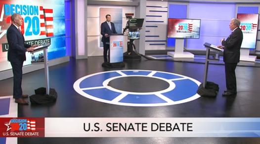 U.S. Republican Sen. Thom Tillis debated Democrat Cal Cunningham Monday night.