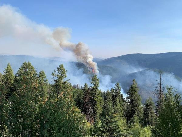 The Beaver Fire, burning in the Nez Perce-Clearwater National Forests, photographed in early September.