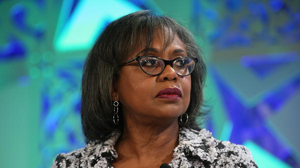 Anita Hill speaks onstage at the Fortune Most Powerful Women Summit in October 2018 in Laguna Niguel, Calif.