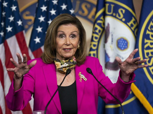 House Speaker Nancy Pelosi of Calif., released a stopgap spending bill Monday without farm aid favored by Republicans.
