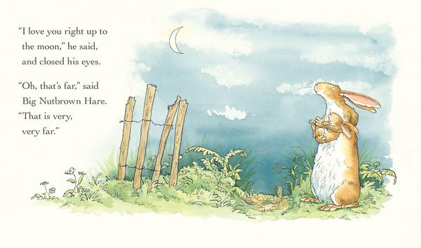 <em>Guess How Much I Love You™ © 2015 Sam McBratney and Anita Jeram. Guess How Much I Love You™ is a registered trademark of Walker Books Ltd, London. Reproduced by permission of the publisher, Candlewick Press, Somerville, MA on behalf of Walker Books, London.</em>