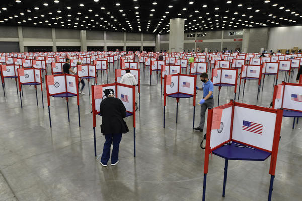 Voters cast their ballots in the Kentucky primary in Louisville in June.