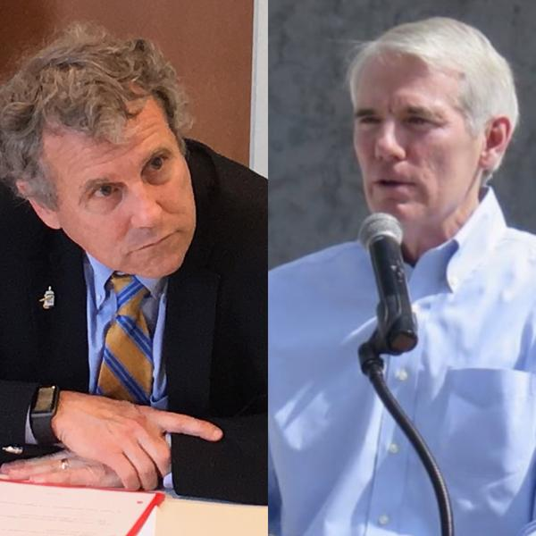 Senators Sherrod Brown (D) and Rob Portman (R)