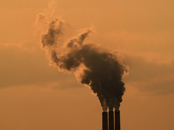 The smokestacks of a coal-fired power plant near Emmet, Kan., in September 2020. Global greenhouse gas emissions continue to rise.