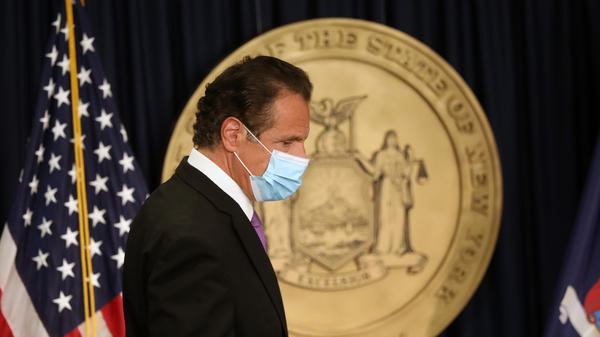 "New York Gov. Andrew Cuomo, pictured at a news conference earlier this month, said Thursday that ""we're going to put together our own review committee headed by the Department of Health."""