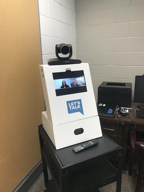 School districts in the Big Bend region received tele-mental health kiosks - like this one at Bay High School - in July 2019.