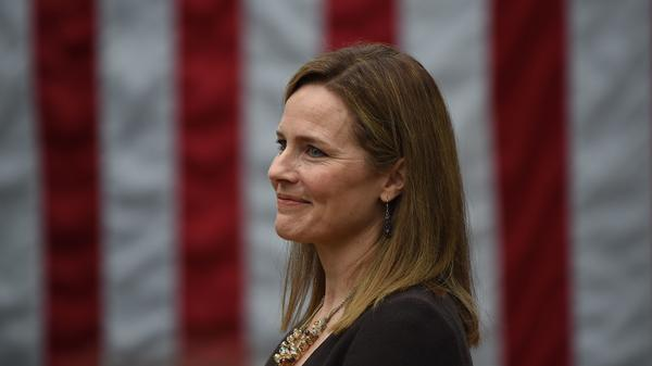 Judge Amy Coney Barrett, pictured at the White House on Saturday, is President Trump's nominee for the Supreme Court.