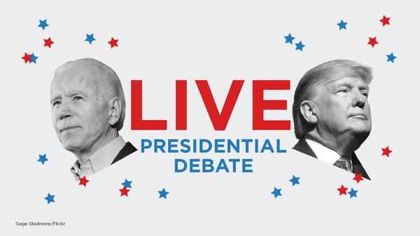 President Trump and Democratic presidential nominee Joe Biden are debating in Cleveland Tuesday night.