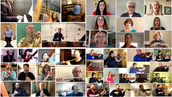 """The Grand Rapids Symphony """"Hallelujah Chorus"""" virtual performance in April. The ensemble is producing a series of six virtual concerts beginning in September to engage fans while staying safe."""