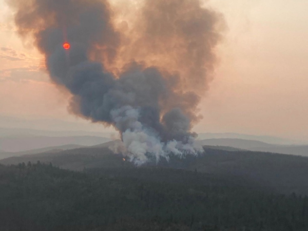 The Mullen Fire burning in the Medicine Bow National Forest in Wyoming, photographed September 17.