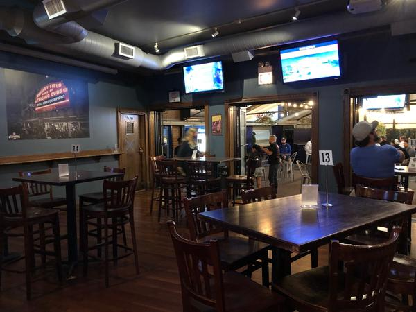 Bernie's Tap and Grill across the street from Wrigley Field in Chicago, would normally be packed with people shoulder to shoulder during a crosstown Cubs/Sox series.