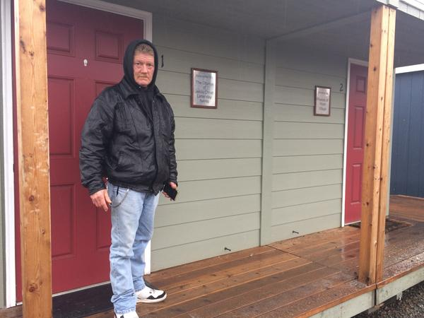 Buckshot Cunningham lived without housing for years before he moved into a small cottage at Hope Village, a shelter run by the nonprofit Rogue Retreat in southern Oregon.